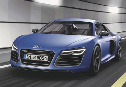 Audi R8 albastru faţă
