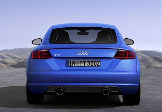 Audi TT albastru din spate