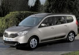 Dacia Lodgy privită din faţă