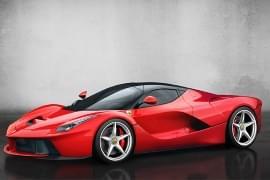 Ferrari LaFerrari privit din faţă