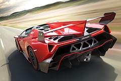 Lamborghini Veneno din spate