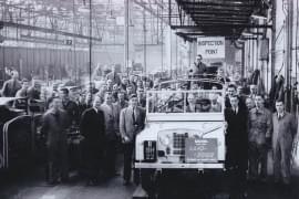 Land Rover în fabrica-mamă Solihull