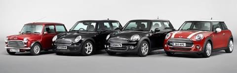 Patru generații Mini BMW